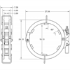 "Ratchet-style pipe clamp dimensions for 18"" Pipe"