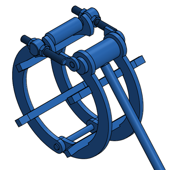 "Picture of 8"" Standard Clamp"
